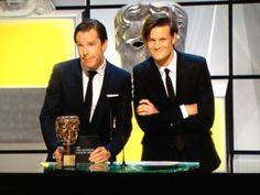 matt smith | benedict cumberbatch  The most precious moment of BAFTA.)) Moffat must be really proud))).