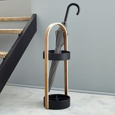 Umbra umbrella holder by West Elm Pip Studio, New Furniture, Furniture Design, Umbrella Holder, Umbrella Stands, Support Mural, Wooden Stairs, Floating Shelves Diy, Shop Interior Design