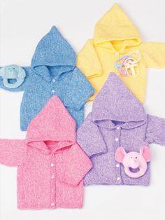 Baby's Hoodie | Yarn | Free Knitting Patterns | Crochet Patterns | Yarnspirations - free pattern