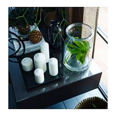 IKEA BEGÄRLIG vase The glass vase is mouth blown by a skilled craftsperson. Decorative Accessories, Home Accessories, Clear Glass, Glass Art, Recycling Facility, Lantern Candle Holders, Apartment Living, Living Room, Candlesticks