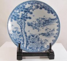 from the Many Faces of Japan on Ruby Lane; back from the research department, a gorgeous Hirado porcelain plate with playing kirako