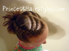 hi bun with cornrow and bangs | fun braided style for the beach, camping, or anytime. :)