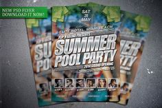 Summer Pool Party flyer template. Get it here:  http://graphicriver.net/item/summer-pool-party-flyer-template/7659341?WT.ac=portfolio&WT.z_author=FlipNGecko