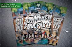 Summer Pool Party flyer template. Get it here:  http://graphicriver.net/item/summer-pool-party-flyer-template/7659341?WT.ac=portfolio&WT.z_author=FlipNGecko