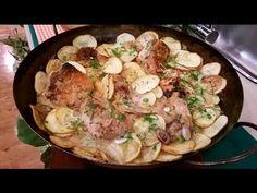 Pollo al verdeo y limón al disco con papas españolas - Recetas – Cocineros Argentinos