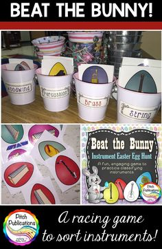 Need a way to practice classifying instruments of the orchestra? Beat the Bunny is a super fun game your students will beg to play! This instrument family game is a great way to practice the woodwind family, brass family, string family, a Music Lesson Plans, Music Lessons, Instruments Of The Orchestra, Musical Instruments, Music Classroom, Classroom Ideas, Music Teachers, Classroom Activities, Music Games