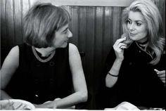 1968 - Françoise Sagan & Catherine Deneuve