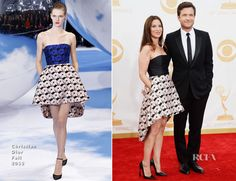 Jason Bateman In Dior Homme & Amanda Anka In Christian Dior – 2013 Emmy Awards