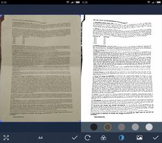 Tiny Scanner is a free application for Google's Android operating system that you may use to scan documents using the device's camera.