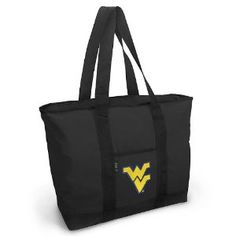 WVU Tote Bag Black Deluxe West Virginia University - For Travel or Beach Best Unique Gift Ideas for Her, Women, or Ladies (Apparel)  http://www.99homedecors.com/decors.php?p=B005620AJS  B005620AJS