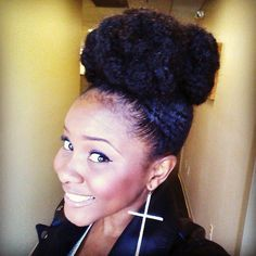natural hair with hot buns - Google Search