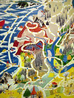 Moomin board game, I love these graphics Bg Design, Board Game Design, Tove Jansson, Children's Book Illustration, Game Art, Illustrations Posters, Board Games, Illustrators, Artwork