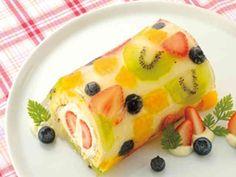 クリアガーでフルーツロールケーキの画像
