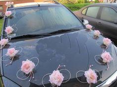růžová ozdoba na auto Wedding Transportation, Party Bus, Bro, Wedding Photos, Wedding Decorations, Reception, Weddings, Marriage Pictures, Wedding