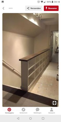 A DIY Bookcase Stair Railing – love this use of space for more bookshelves. I could totally do this for my house. A DIY Bookcase Stair Railing – love this… Style At Home, Bookcase Stairs, Basement Stairs, Bookcases, Book Stairs, Attic Staircase, Attic Ladder, Attic Window, Build A Bookshelf