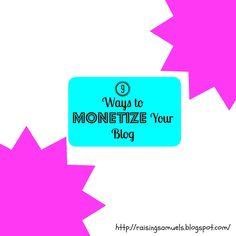 Raising Samuels Homeschool: 9 Ways to Monetize Your Blog #blogging