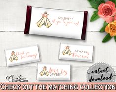 Hershey Wrappers Bridal Shower Hershey Wrappers Tribal Bridal Shower Hershey Wrappers Bridal Shower Tribal Hershey Wrappers Pink Brown 9ENSG #bridalshower #bride-to-be #bridetobe