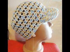 Шапочка Часть 3 Beanie with a visor for boy Crochet Part 3 - YouTube --šilt na čiapke