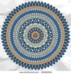 Stock Images similar to ID 203608369 - mandala. round ornament vector...
