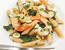Jodie Boehm's Scrumptious Shrimp and Spinach Pasta - Shrimp Recipes - Delish.com I'm thinking I could do it with chicken!