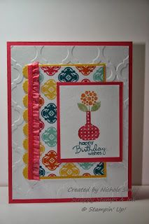 Bright Blossoms, Stampin' Up!, 25% off, Quatrefancy DSP.