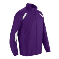 Purple Men's Track Jacket With White Flash