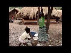 A child's life in Africa- a  6 minute clip with a slideshow capturing moments of a child's chores, play and school