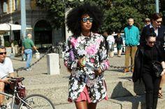 MFW Spring 2013 Street Style : Lucky Magazine; julia sarr-jamois