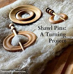 Wooden shawl pins make a beautiful accessory to handmade shawls. The beauty of the wood and the shawl are a great combination.