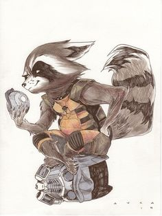 Rocket Raccoon by Kris Anka *