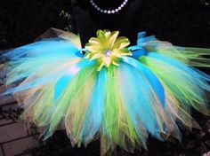 colorful spring tutu
