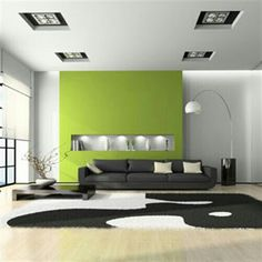 The shade of green I want for my feature wall - yes, it's loud. Yes, it's beautiful!