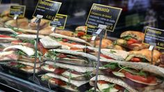 """""""Stacks of Italian-style sandwiches ready for the lunchtime onslaught. The French can be more than a little sniffy about the cuisine of their European neighbors, but Italy is one of the exceptions."""" Words: David Chazan. Photos: Maya Vidon."""