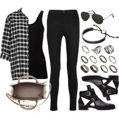 Style #8793 by vany-alvarado on Polyvore featuring polyvore fashion style Topshop Theory J Brand Pierre Hardy Balenciaga ASOS Links of London Ray-Ban