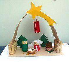 Weihnachtskrippe aus Korken - Weihnachten-basteln - Meine Enkel und ich - Made with schwedesign.de