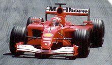 Michael Schumacher won five consecutive titles with Ferrari.