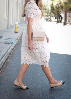 White Crochet Midi Dress | The Teacher Diva