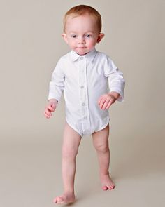 Paul Buton-up Baby Bodyshirt