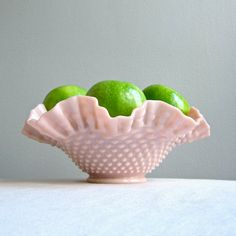 Fenton Milk Glass Fruit Bowl