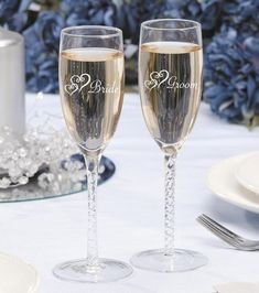 Darice® 2 pk. Bride & Groom Twisted Champagne Glasses. Joann Fabric, $17.99
