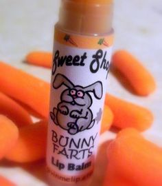 Hey, I found this really awesome Etsy listing at https://www.etsy.com/listing/78819550/bunny-farts-lip-balm-easter-basket-treat