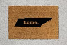 Tennessee Doormat Tennessee Door Mat Tennessee by TheDoormatory
