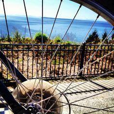 Biking to beautiful Kwomais Point Park in #SurreyBC #explorebc #explorecanada