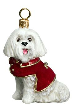 Joy to the World Collectibles 'Maltese Dog' Ornament | Nordstrom