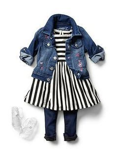 Shop Gap for Casual Women's, Men's, Maternity, Baby & Kids Clothes Baby Clothing: Toddler Girl Clothing: Now & Later Looks Dresses Toddler Girl Style, Toddler Girl Outfits, Toddler Fashion, Kids Fashion, Toddler Girls, Toddler Hair, Fashion News, Fashion Styles, Hair Kids