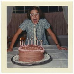When I was 8 yrs, old, my cake had bumps all over it because I had the mumps !!!