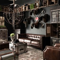 Saddle up in this sitting room setting I styled at the Timothy Oulton showroom…