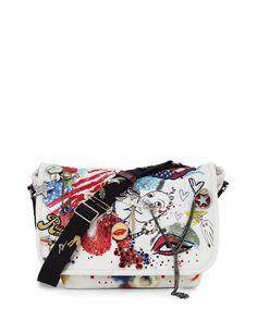 Collage Canvas Messenger Bag, Ecru Multi, Ecru Multi - Marc Jacobs Marc  Jacobs 39c574f6381a