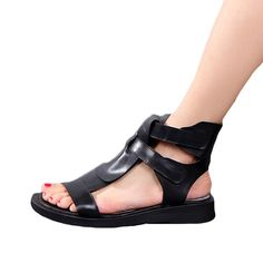 3953c0669c4175 Mordenmiss Women s Leather Peep Toe Ankle Sandals     Be sure to check out  this