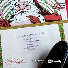 Look who didn't make A's nice list. | Pretty Little Liars